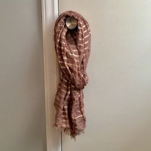 Accessories - Women's One Size Brown/Gold Scarf